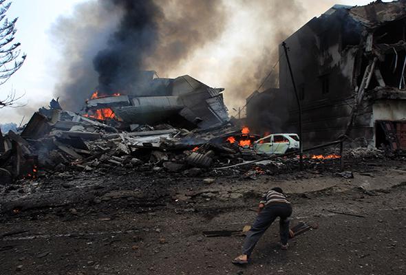Pesawat Hercules tentera Indonesia terhempas di Medan, 45 disahkan maut