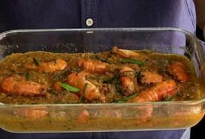 Savoury prawn rendang recipes for Hari Raya