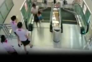 Seorang wanita maut 'ditelan' eskalator di China