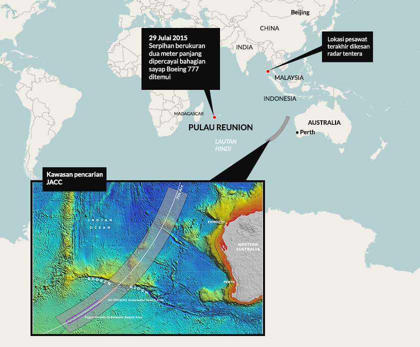 Mh370, map