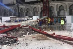 Tragedi kren runtuh Masjidilharam: Enam jemaah Malaysia disahkan cedera