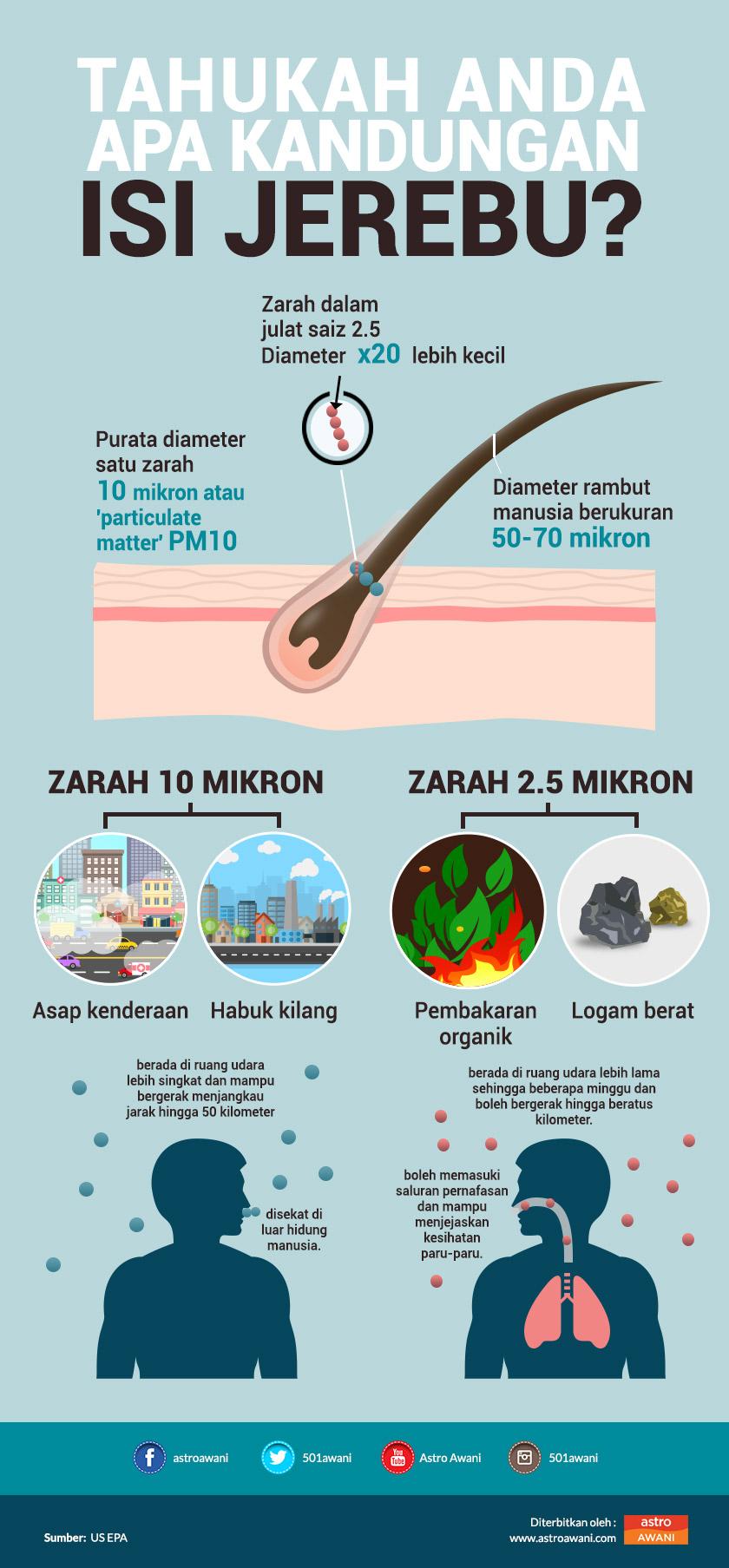 Infografik: Kandungan asap jerebu