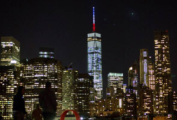 It was a powerful symbol of US friendship and support for the French, made from the tallest building in the United States.