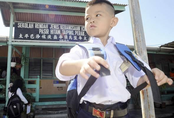 Hanya seorang murid mula persekolahan di SKJC Aik Hua