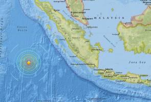 Gempa bumi kuat 6.4 pada skala Richter gegar selatan Sumatera