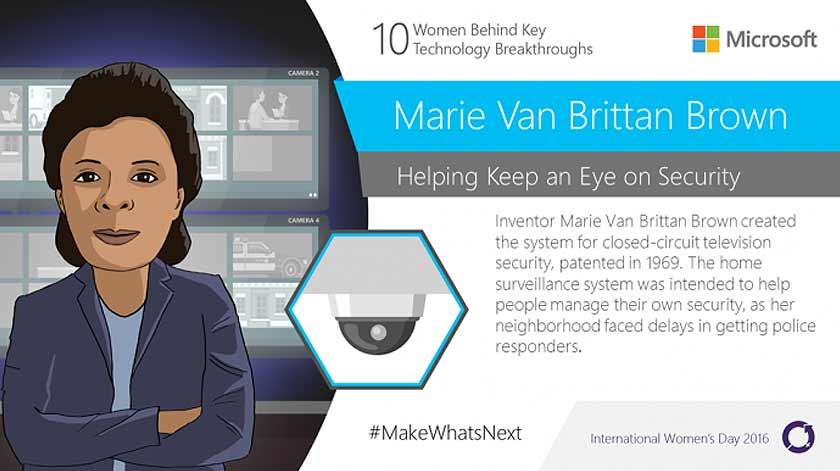 Marie Van Brittan Brown