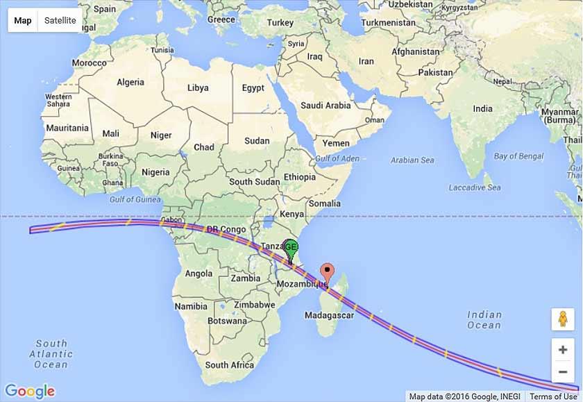 Gerhana matahari cincin di Afrika