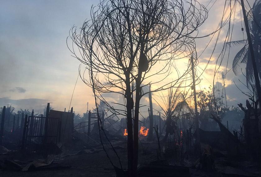 Lebih 100 rumah setinggan musnah dalam kebakaran di Tawau pada Rabu.