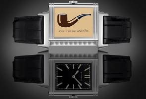 Jaeger-LeCoultre stars Ren Magritte painting in 'Reverso' tribute-series watch