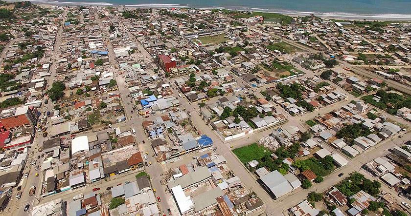 Bencana gempa di Ecuador adalah salah satu contoh penyampaian maklumat visual dapat dibantu dengan penggunaan dron. - Gambar fail