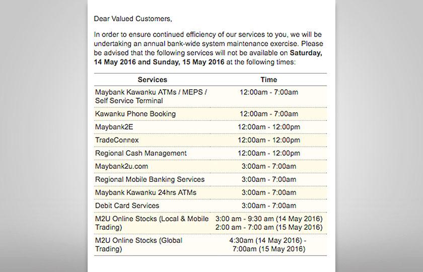 Maybank Selenggara Perbankan Dalam Talian Atm Awal Pagi 14 Dan 15 Mei Astro Awani