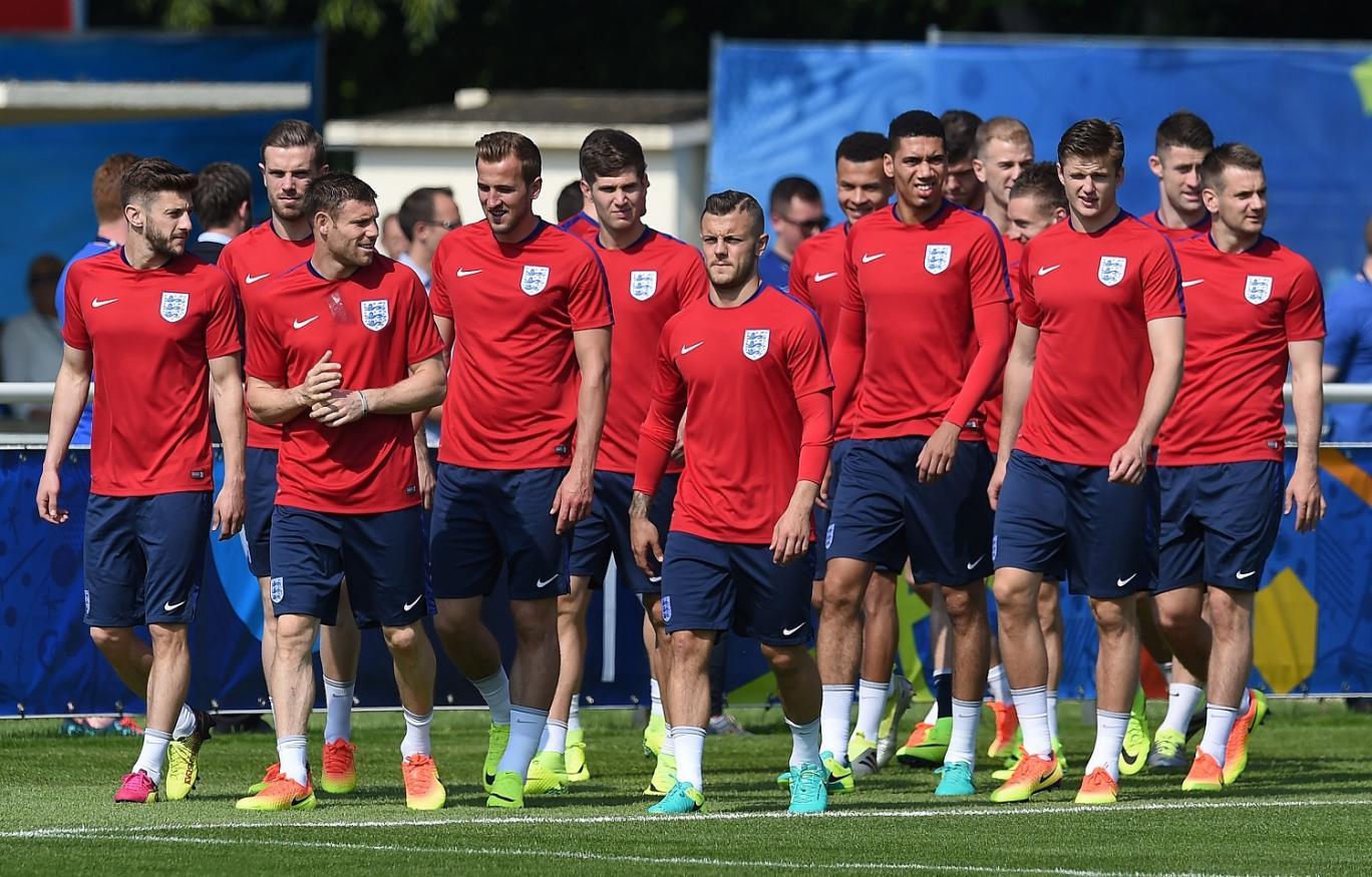 England, dengan koleksi pemain paling mahal di Euro 2016. PAUL ELLIS/AFP