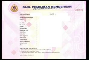 JPJ: VOC replaces vehicle registration cards from 1 June 2016