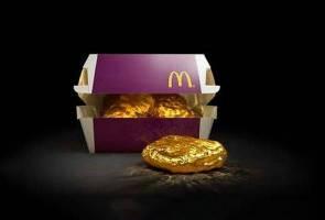 McDonald's Jepun tawar nugget bersalut emas