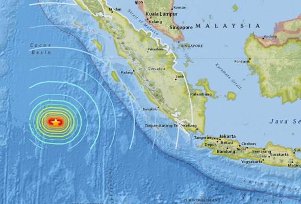 Gempa 6.5 magnitud landa perairan Sumatera pagi ini