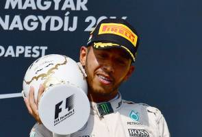 F1: Hamilton wins in Hungary to claim overall lead