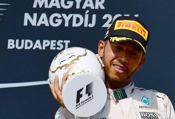 Formula One: Hamilton menang di Hungary, ungguli tempat teratas keseluruhan