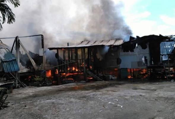 Rumah Panjang Charles Egat musnah dijilat api