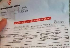 TNB perjelas notis 'maklum balas rumah berkunci'