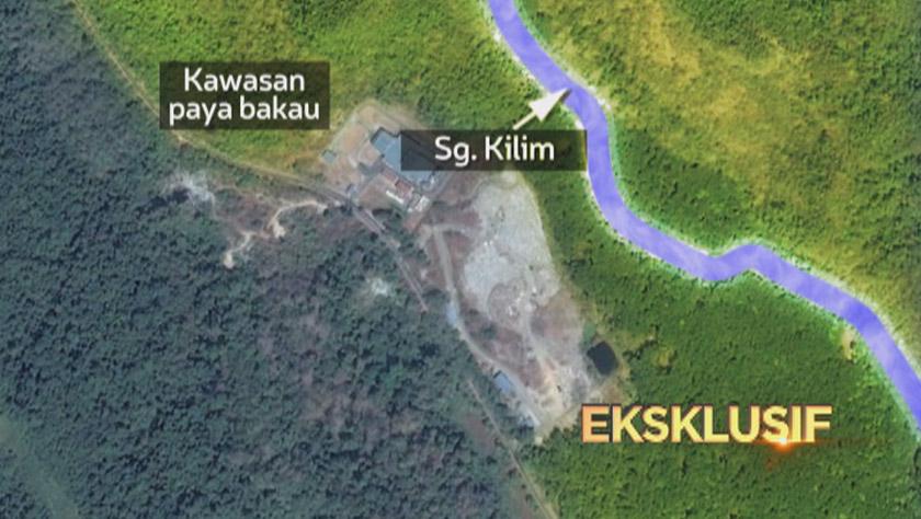 Air larut serap dari pusat longgokkan sampah itu mengalir masuk ke kawasan hutan paya bakau kerana jaraknya kurang 20 meter. - Foto Astro AWANI