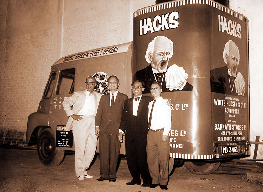 Sweets anyone? A Hacks van distributing free sweets at an entertainment centre in Penang in the 1960s. - BERNAMApic