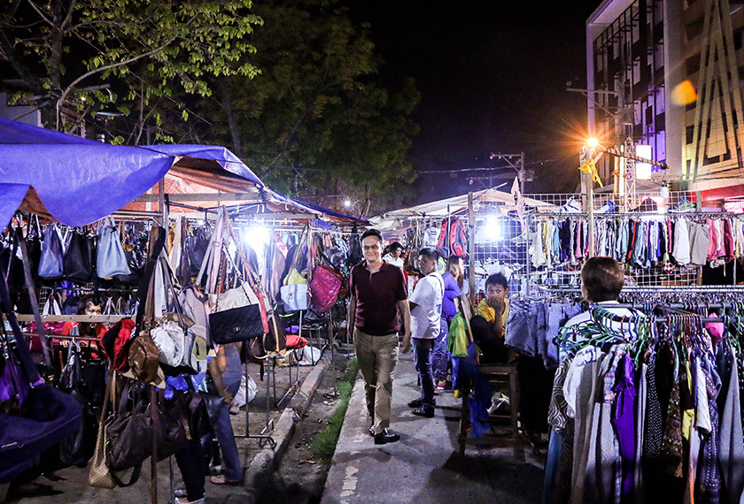 Karim at the Roxas Night Market in Davao - the site of September 2nd bombing. - Karim Raslan Photo