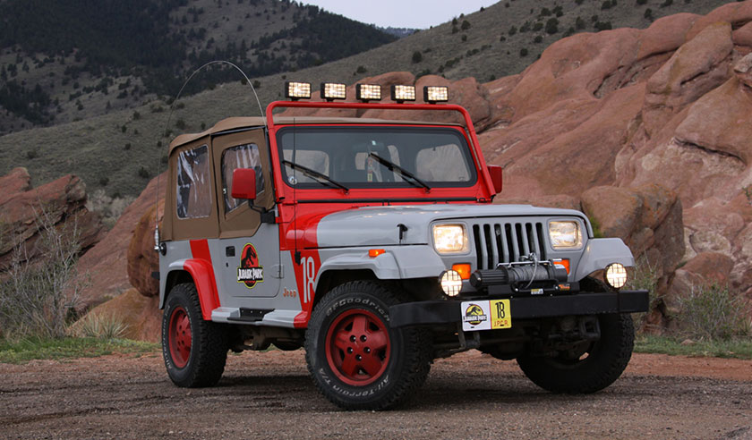 """The Jeep Wrangler Sahara from """"Jurassic Park"""""""