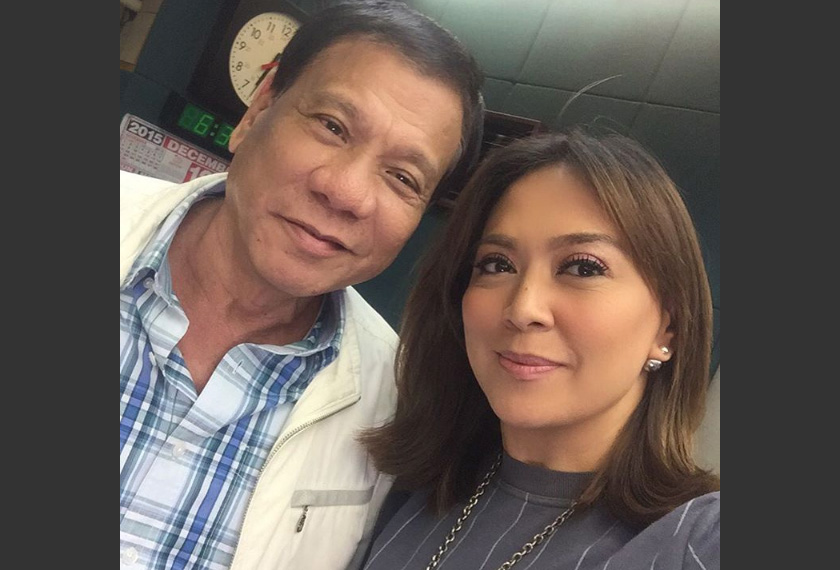 Davila posted a selfie of herself together with Duterte in her Instagram account in December last year. Instagram photo