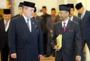 Yang Di-Pertuan Agong berangkat ke mesyuarat Majlis Raja-Raja di Istana Negara