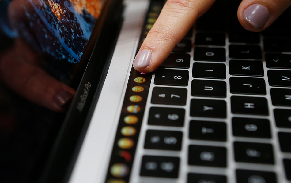 apple, macbook pro launch, touch controls