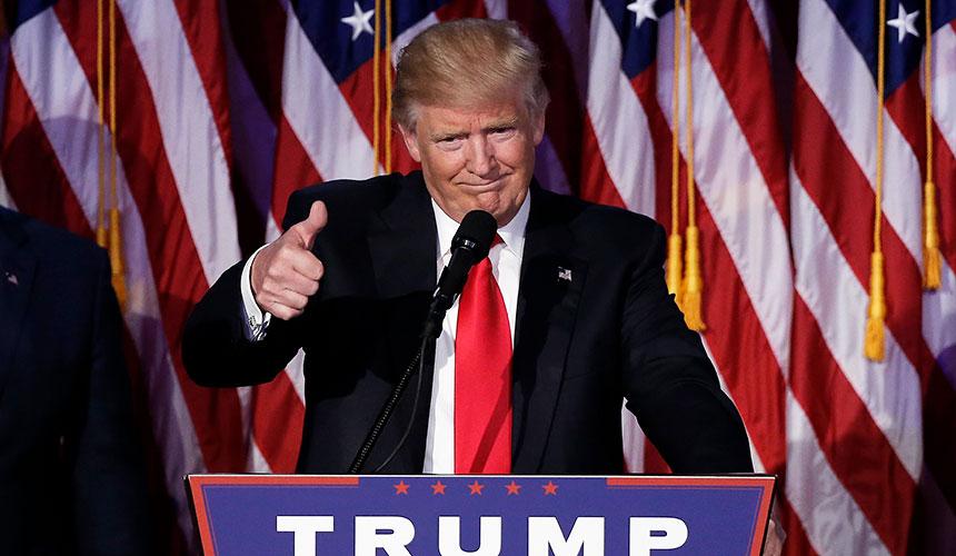 LAPOR LANGSUNG: Donald Trump dipilih sebagai Presiden AS ke-45