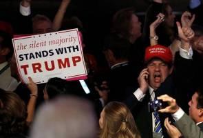 Kemenangan mengejut Trump di beberapa negeri gegarkan pasaran saham, matawang dunia