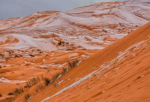 Jurugambar amatur jadi saksi fenomena salji di Gurun Sahara