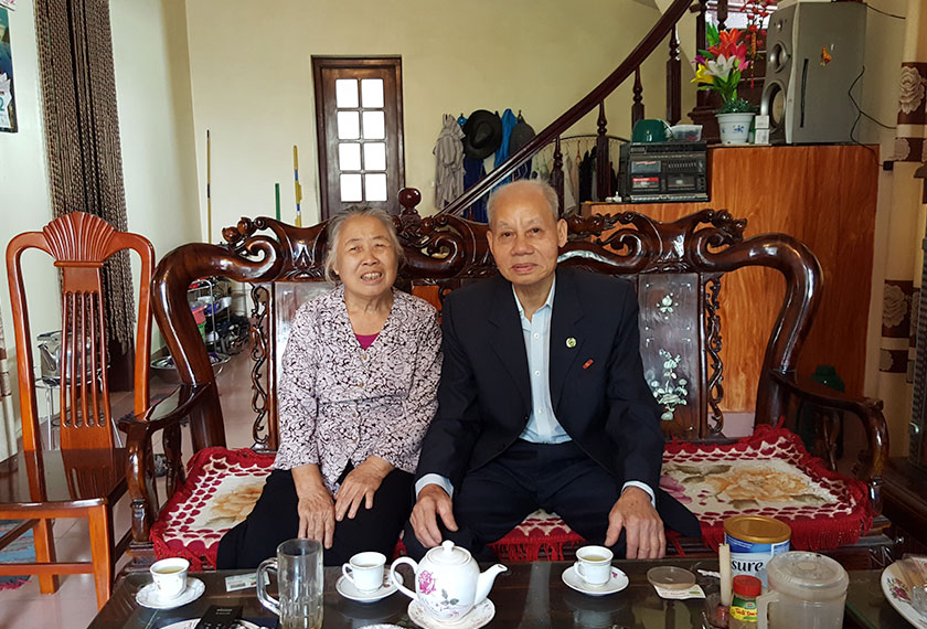 Mr Phuong and wife in their new home. - Photo by Karim Raslan