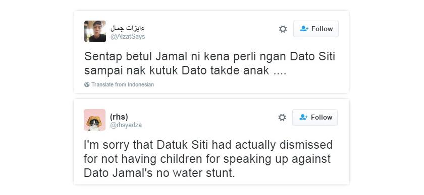 Antara reaksi peminat Siti di laman sosial.