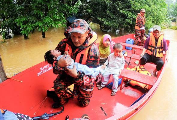 1,606 mangsa banjir berada di pusat pemindahan di Terengganu malam ini