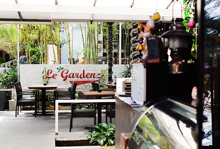 Le Gardenz Café opposite the family's factory in Balakong serves as a showroom for the company's steel manufacturing and design. Karim Raslan Photo