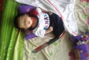 Ibu disyaki kelar mati bayi sendiri direman tujuh hari
