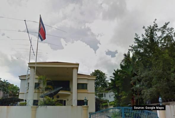 Polis kawal bangunan kedutaan Korea Utara