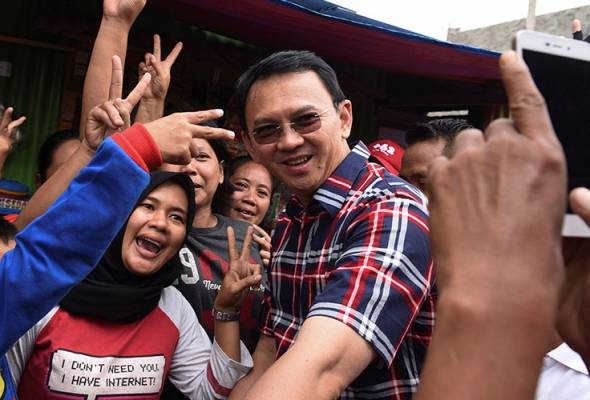 Other than solid support from his supporters, it was also prompted by anti-Ahok campaign.