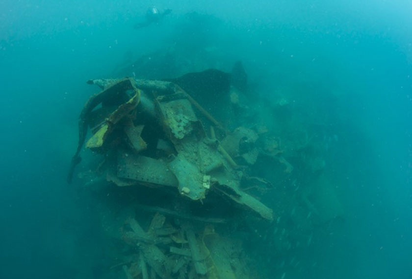 Salah satu imej yang dirakam di lokasi Rice Bowl Wreck. - Sumber foto dirahsiakan