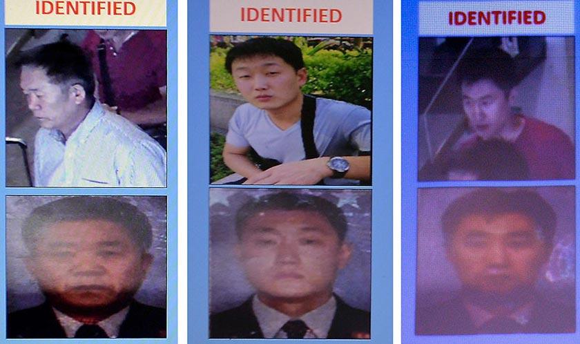 Tiga individu ini dipercayai suspek utama dalam kes pembunuhan Kim Jong Nam seperti dinyatakan Timbalan Ketua Polis Negara, Tan Sri Noor Rashid Ibrahim - Foto PDRM