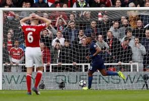 Man United punish struggling Boro despite Mourinho's pessimism