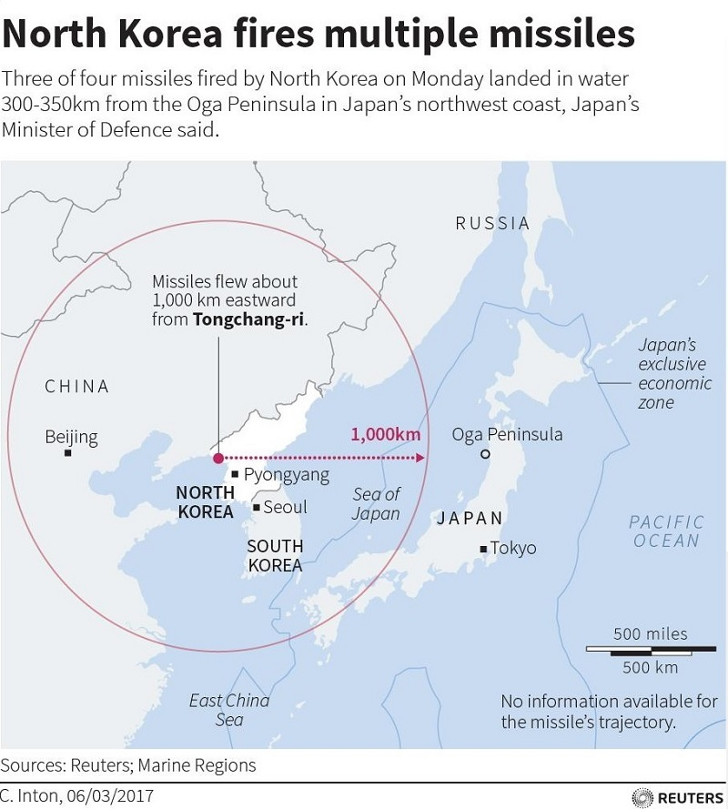 US Starts Deploying THAAD System In South Korea After North Korea - Map us milittary bases opened