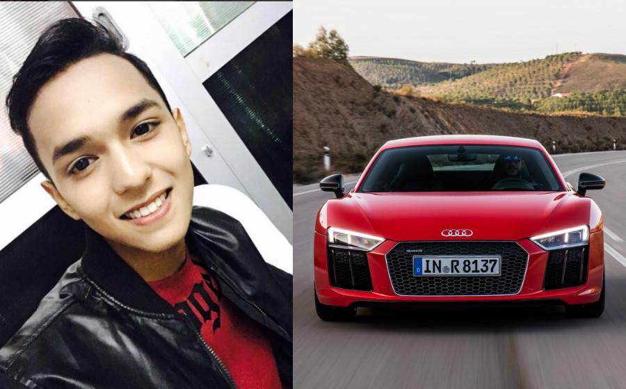 Dihadiahkan Audi R8 dan pemandu peribadi, Aiman Tino tetap mahu belajar memandu