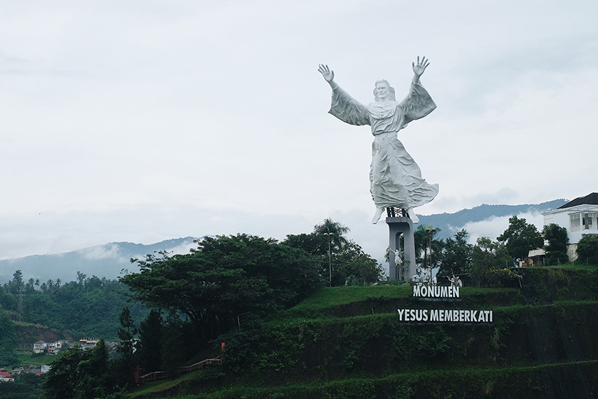 Christ's Blessing, a 50m tall statue, is Manado's current city icon and a reflection of the strong Christian influence in the region. Karim Raslan Photo