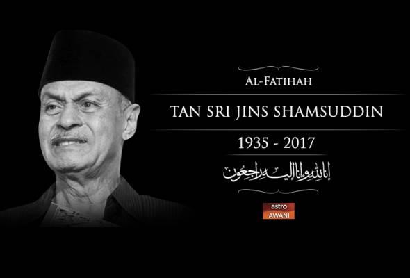 Seniman legenda, Jins Shamsuddin meninggal dunia