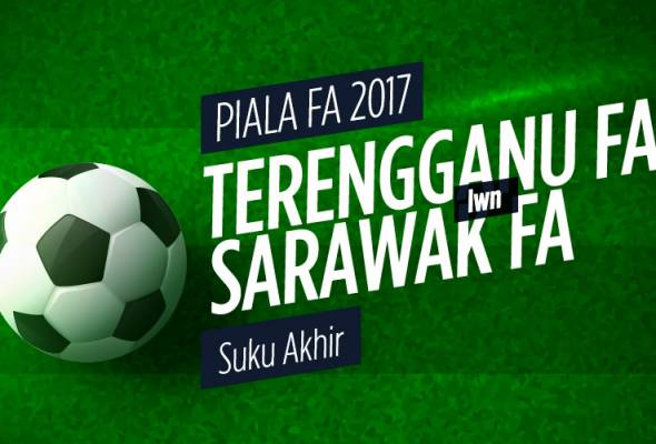 Tiket perlawanan suku akhir Piala FA Terengganu menentang Sarawak akan mula dijual kepada orang ramai pada hari perlawanan.