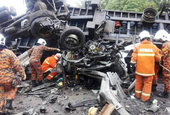 Kemalangan Lembah Beringin: Pemandu treler ditahan polis