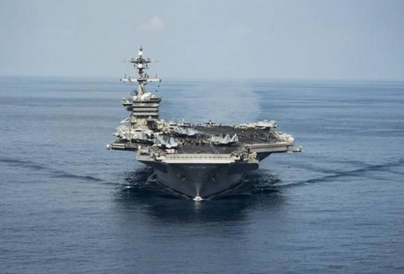 Trump ordered the USS Carl Vinson carrier strike group to sail to waters off the Korean peninsula in response to rising tension.